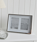 Silver Box frame with mount for 6x4 double photograph