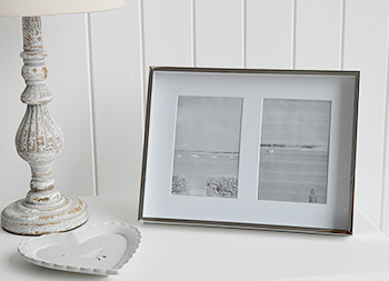 Double silver photo frame