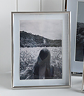 Silver 5x7 photoframe with white mount