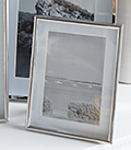 Silver 6x4 photoframe with white mount