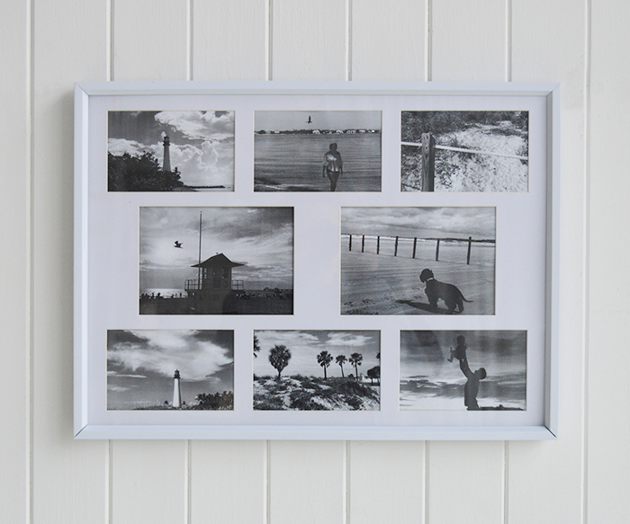 Portland white multi collage photoframe