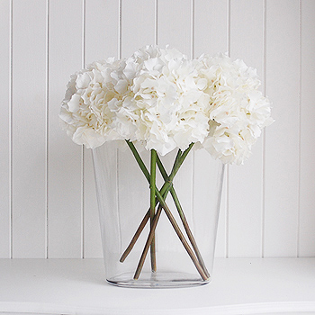 Arificial very realistic white silk Hydrangea