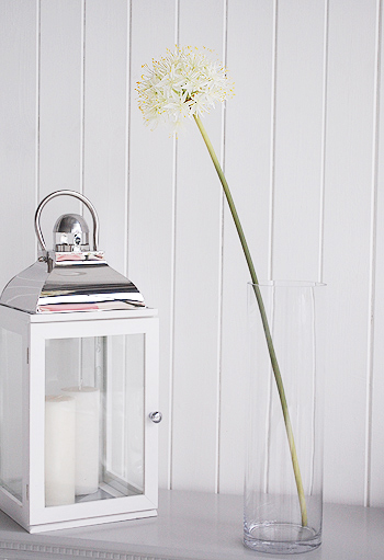 Artificial stem of white allium superb from the white lighthouse artifial white allium superb mightylinksfo