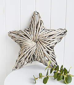 Chunky grey willow star for coastal, country and New England home furniture interiors