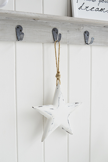 Hanging White Star From The White Lighthouse