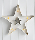White battery operated light star