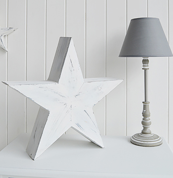 White And Grey Large Star