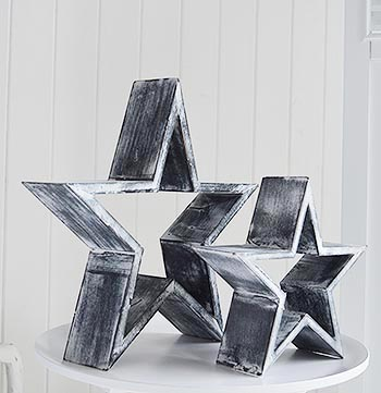 White and grey stars
