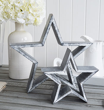 Grey wooden stars for a gorgeous home interior