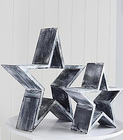 Set of 2 grey stars