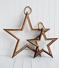 Set 2 large stars. Add texture with coastal home accessories