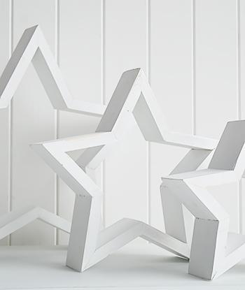 Set Of Decorative White Stars