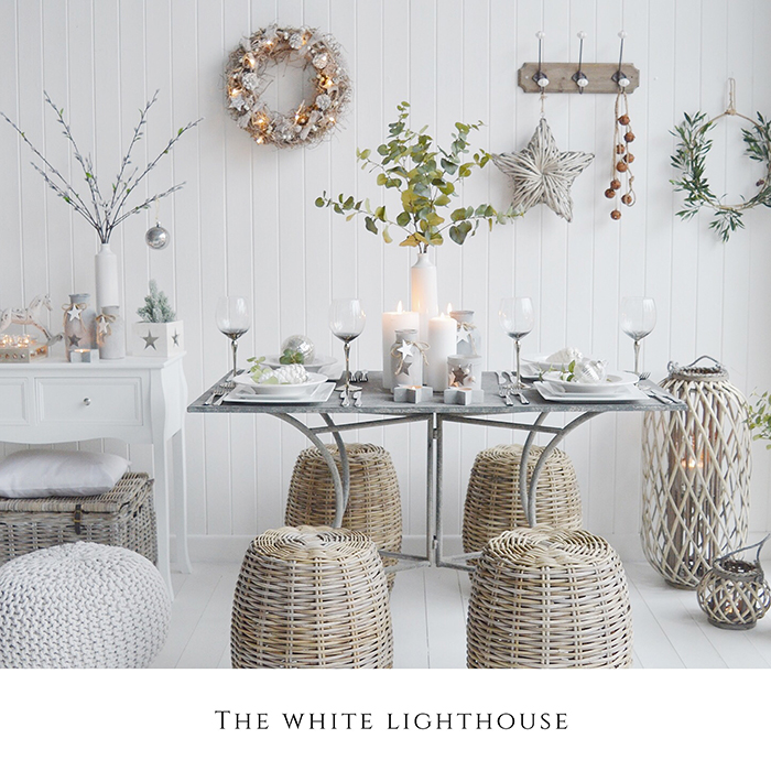Decorative items from The White Lighthouse Furniture and Home decor in New England style interiros for country, coastal and city homes