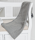 Grey Herringbone Throw Blanket Bedspread