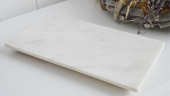 White marble tray for display