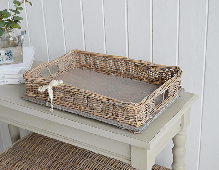 WIndsor Grey Willow Display tray for home decor coastal and country home interiors