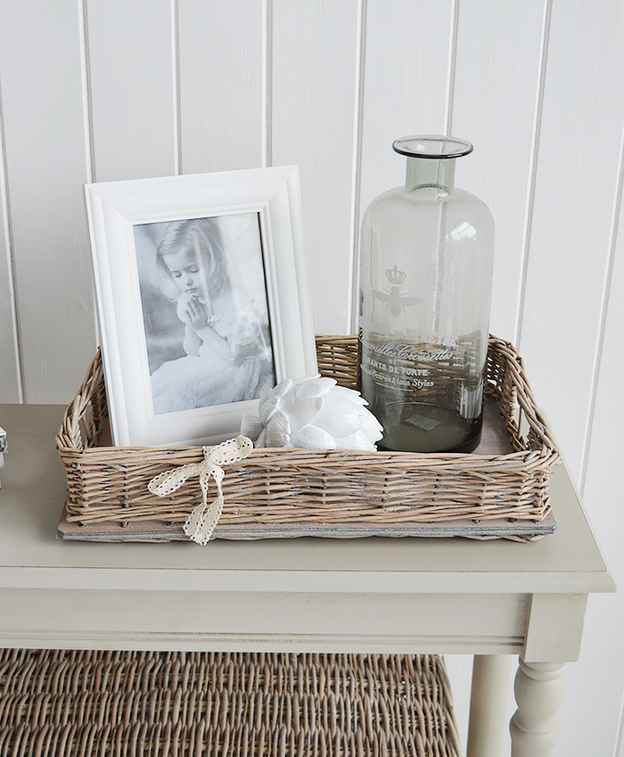 WIndsor Grey Willow Display tray for coastal and country home interiors from The White Lighthouse