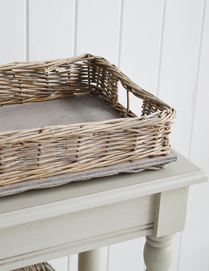 WIndsor Grey Willow Display tray for coastal and country home interiors