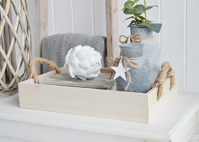 Wooden tray for display from The White Lighthouse Furniture