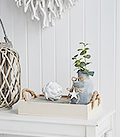 Wooden tray for display from The White Lighthouse Furniture for Hallway, Living Room, Bedroom and Bathroom. Coastal Country, New England and White Furniture