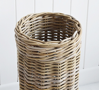 Casco Bay grey willow umbrella stand for hall furniture