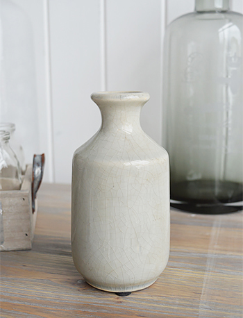 Small Grey Cracked Glaze vase