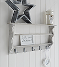 Parisian Grey narrow shelf and hooks