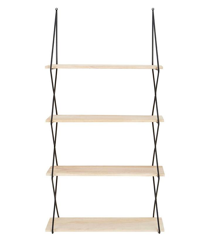 Boston Bohemian Industrial Tall Wall Book Shelf