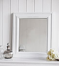Versailles White Distressed french wall mirror
