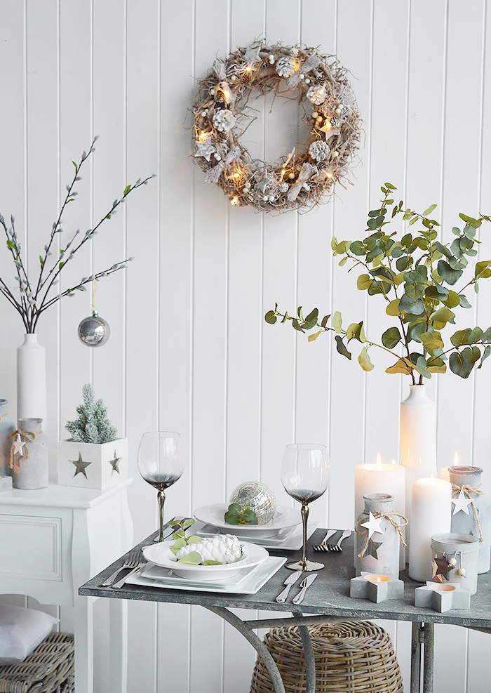 Christmas Decor from The White Lighthouse Furniture for New England Country, coastal, city and white interiors