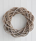 Natural willow wreath