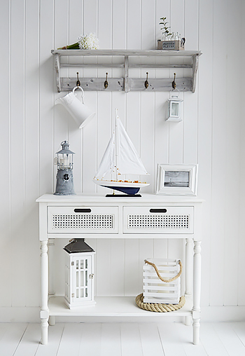 Nautical and white home decor accessories from The White Lighthouse