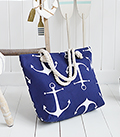 The White Lighthouse Furniture new England Lifestyle for Country and Coastal Living - anchor beach bag