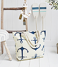The White Lighthouse Furniture new England Lifestyle for Country and Coastal Living - anchor swimming bag
