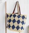 The White Lighthouse Furniture new England Lifestyle for Country and Coastal Living - Raffia tote bag
