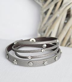 Grey star bracelet