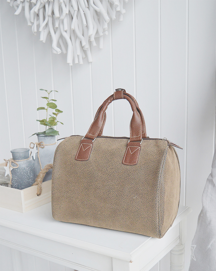 The White Lighthouse. Nautical Coastal Furniture, lifestyle and accessories for the home. Barrel Handbag