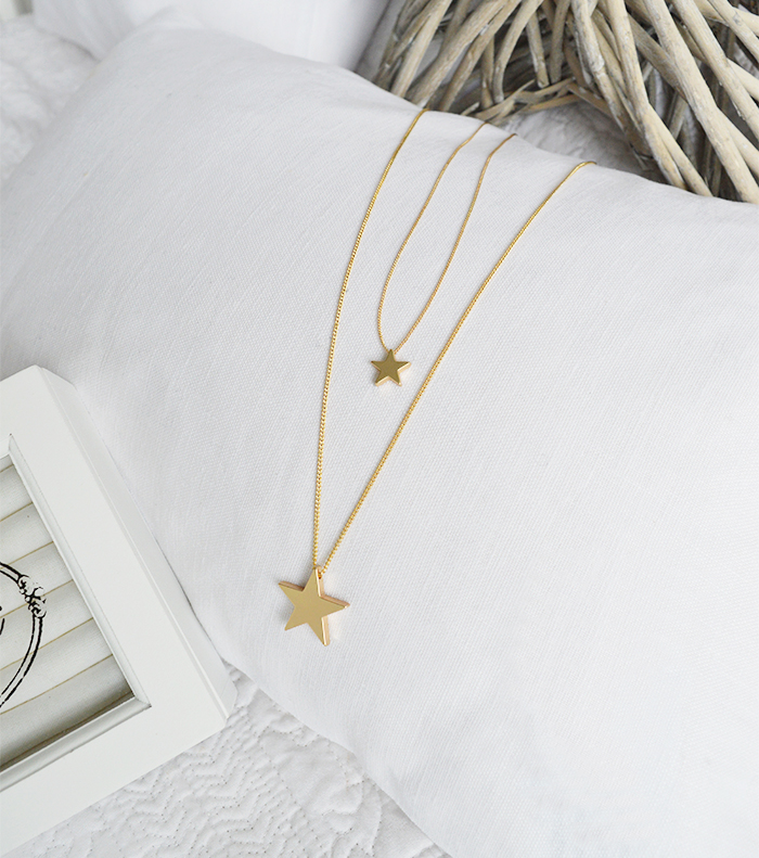 The White Lighthouse Furniture new England Lifestyle for Country and Coastal Living - gold necklace