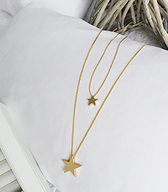 The White Lighthouse Furniture new England Lifestyle for Country and Coastal Living - gold star necklace