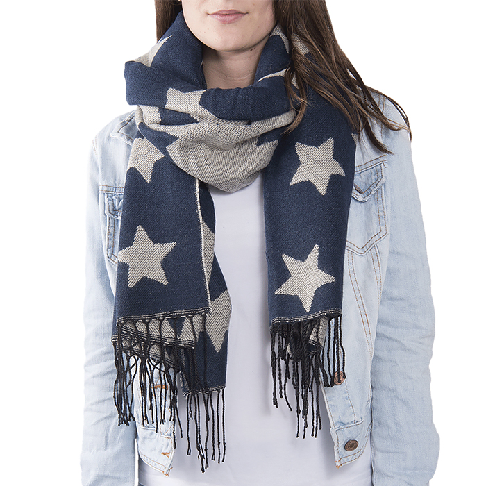 The White Lighthouse Furniture new England Lifestyle for Country and Coastal Living - navy star scarf