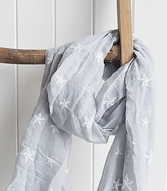 The White Lighthouse Furniture new England Lifestyle for Country and Coastal Living - grey star scarf