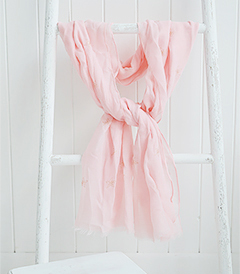 Pink and Rose Gold Scarf from The White Lighthouse Furniture