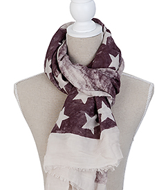 The White Lighthouse Furniture new England Lifestyle for Country and Coastal Living - burgandy star scarf