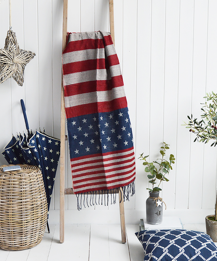 The White Lighthouse Furniture new England Lifestyle for Country and Coastal Living - stars and stripe scarf