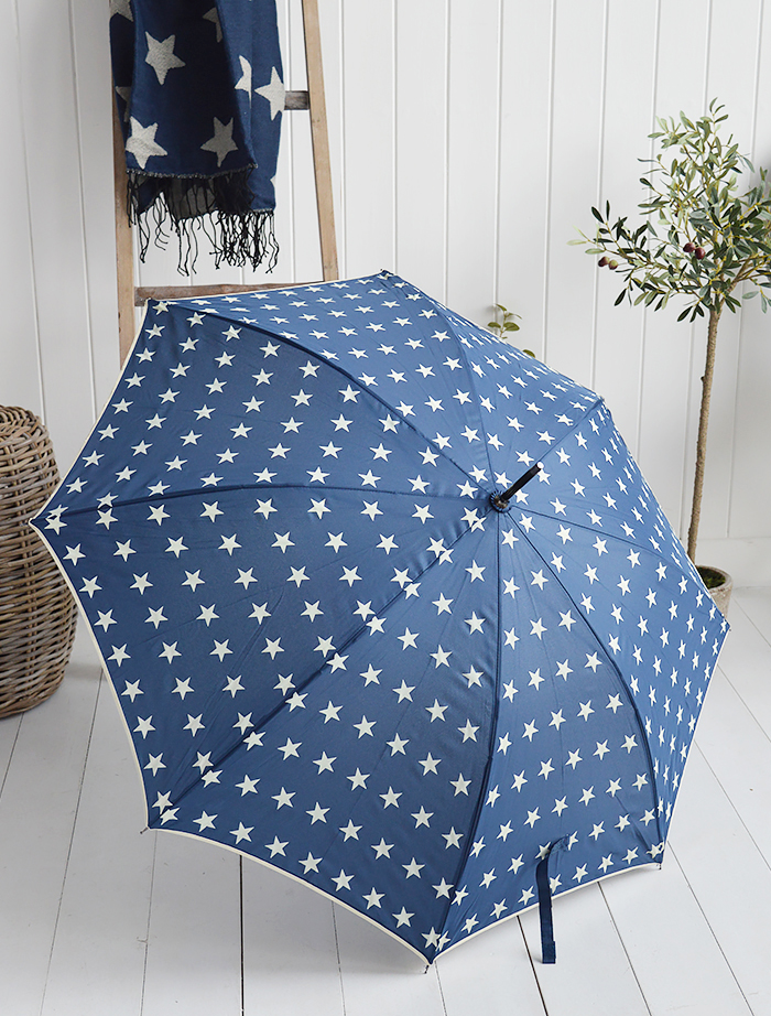 navy star umbrella
