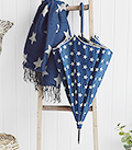 The White Lighthouse Furniture new England Lifestyle for Country and Coastal Living - navy star umbrella