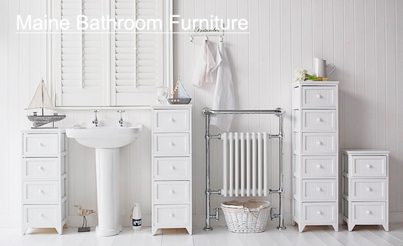 The White Lighthouse offers coastal style white storage furniture