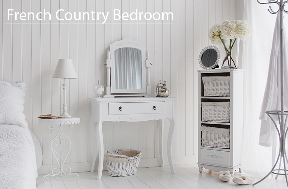 White Bedroom Furniture French Coastal Design Ideas