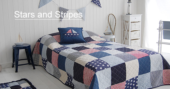 White Bedroom Furniture Stars And Stripes American Style