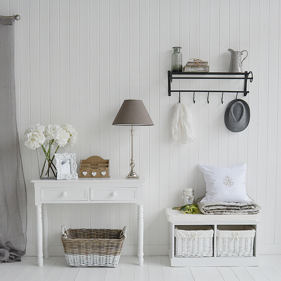 Hall Furniture The White Country Hall Decorating Ideas